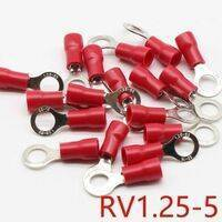 RV1.25-5 Red Insulated Crimp Ring Terminal Cable Wire Connector