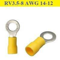 RV3.5-8 Ring Terminal Insulated Crimp Cable Wire Connector Yellow