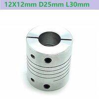 12X12mm Aluminum Flexible Coupling D25mm L30mm