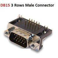 DB15 Male Right Angle Connector D Sub High Density PCB Mounting 15 Pin 3 Rows Connector DBHD 15