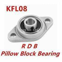 8mm Diameter Zinc Alloy Bearing Housing KFL08 FL08 K08 Flange Bearing With Pillow Block Bearing