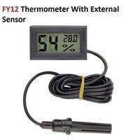 FY12 Thermometer Hygrometer Incubator Meter  With  External Sensor