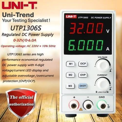 UNI T Adjustable Digital DC Power Supply UTP1306S 32V 6A Single Channel 4Bits 220V Input OVP Mobile Phone Repair Supply