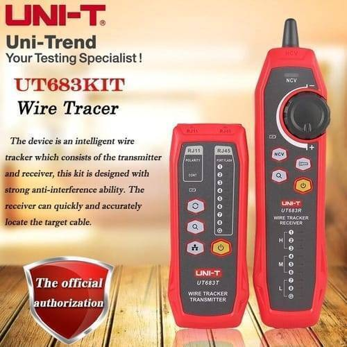 UNI T Intelligent Wire Tracker UT683KIT Auto Detect Cable Tester Network Line Finder Tracer