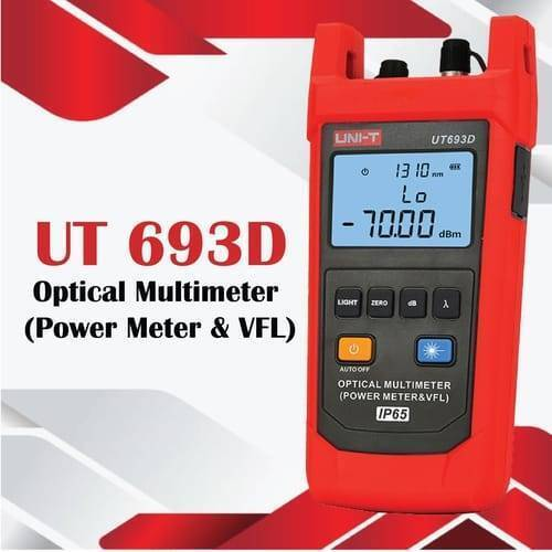 UNI T Optical Multimeter UT693D IP65 Waterproof and Dustproof Power Meter & VFL Fiber Optic Tester