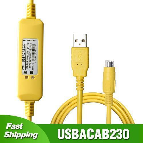 DELTA PLC Programming cable USBACAB230 For Delta DVP ES EX EH EC SE SV SS PLC Programming Cable USB TO RS232 Adapter