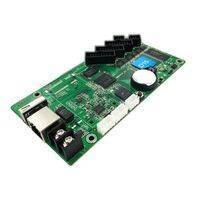 HD-D15 asynchronous full color led display control card 4*HUB75 data interface RGB ,384x64 pixels,Small size screen control card