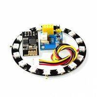 ESP8266 ESP01 ESP-01 RGB LED Controller Adpater WIFI Module for Arduino IDE WS2812 WS2812B 5050 16 Bits Light Ring Christmas DIY