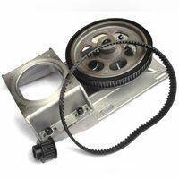 Oblique Teeth NEMA34 Helical Gearbox With Timing Belt For CNC Machine In Pakistan