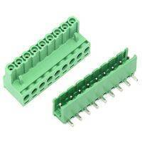 10 Pin Connector PCB Mount Right Angle, Bent Screw Terminal