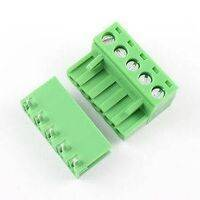5 Pin Connector PCB Mount Right Angle, Bent Screw Terminal