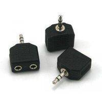 Headphone Jack Splitter 3.5mm Jack Plug to 2x 3.5mm Jack Sockets Stereo Adaptor Dual Splitter