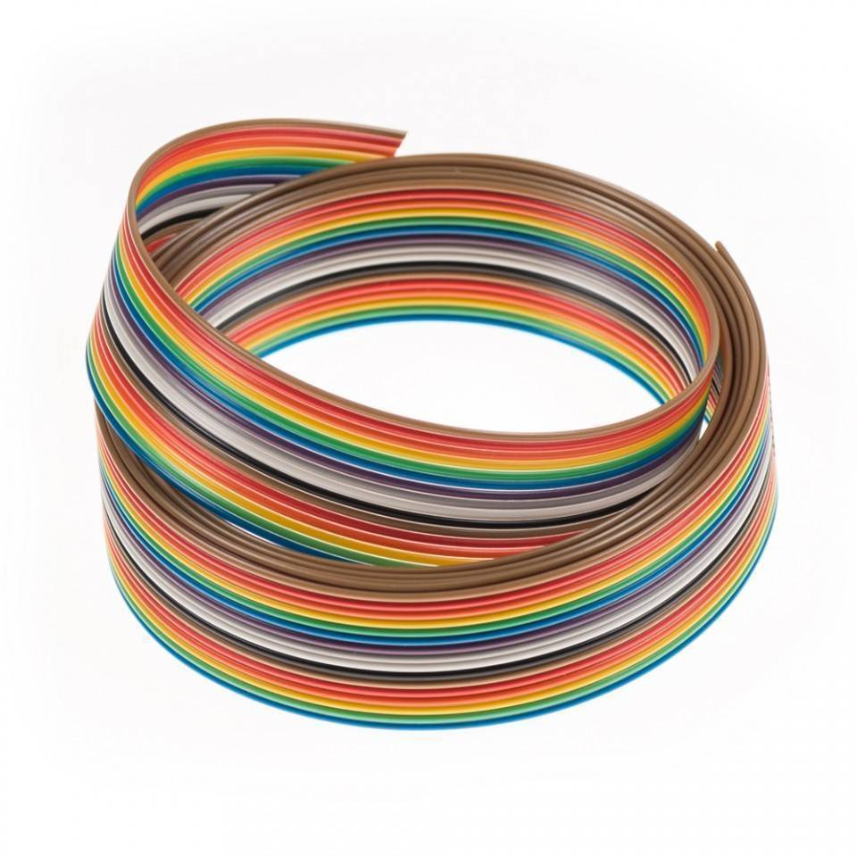 1Feet 20 Wires Rainbow Color Flat Ribbon Cable in Pakistan