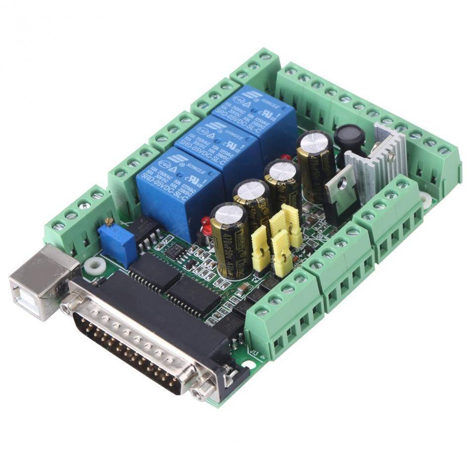 4 Axis 6 Axis CNC Breakout Board Stepper Motor Driver Breakout Board For CNC Engraving Machine MACH3V2.1-L Adapter Controller