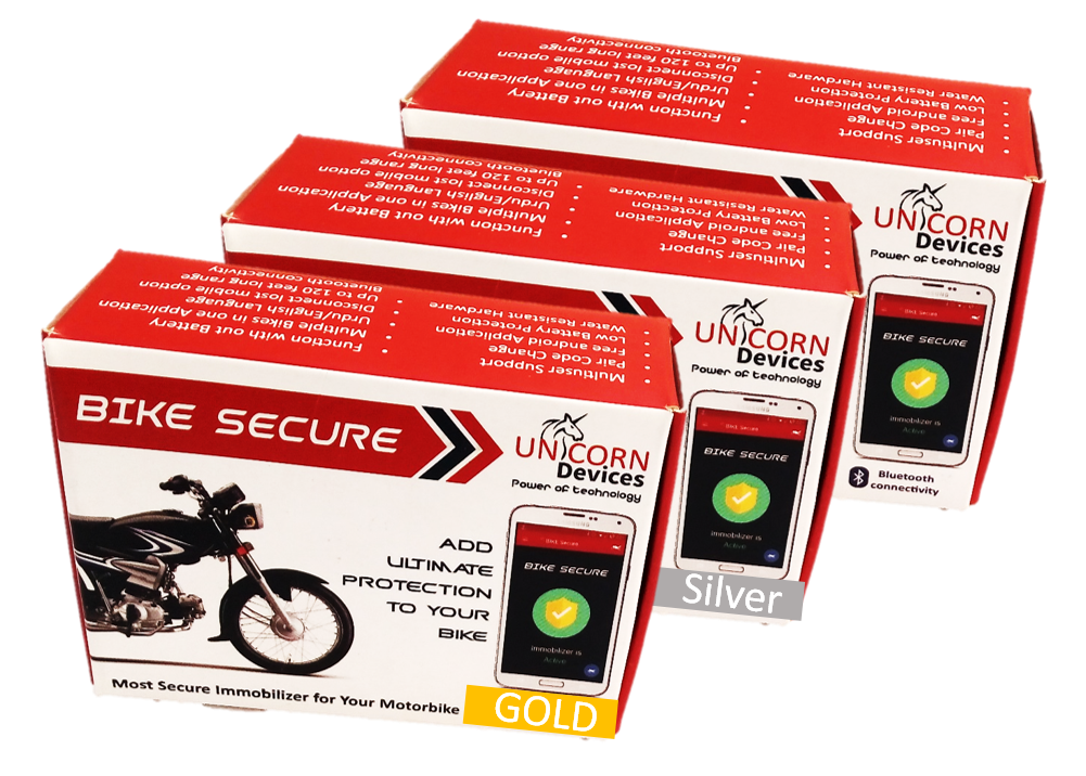 BIKE SECURE Silver (bluetooth, security, motorcycle, alarm)