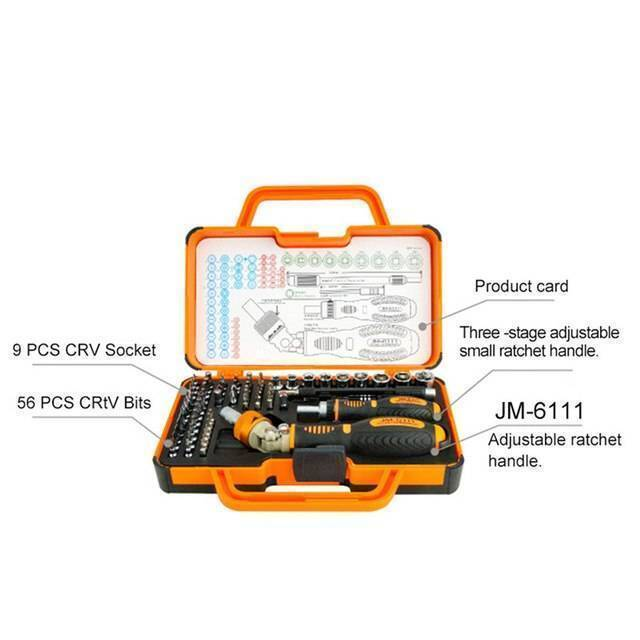 JM-6111 69 in 1 Screwdriver Ratchet Hand-tools Suite Furniture Computer Electrical maintenance Tools