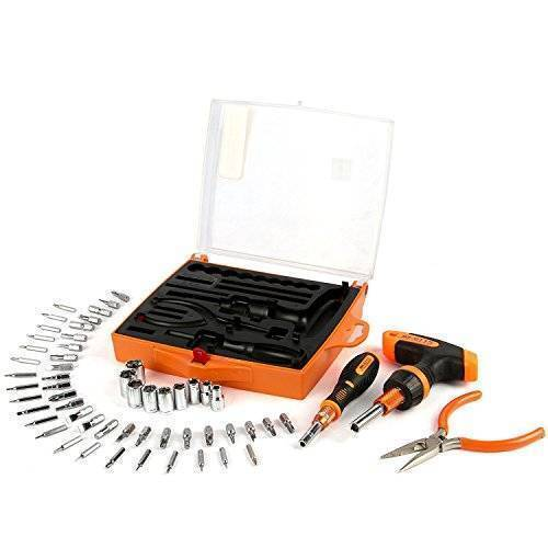 JM-6115 60 in 1 Screwdriver Ratchet Hand-tools Suite Furniture Computer Electrical maintenance Tools