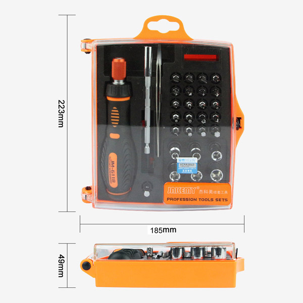 JM-6118 33 in 1 Screwdriver Ratchet Hand-tools Suite Furniture Computer Electrical maintenance Tools