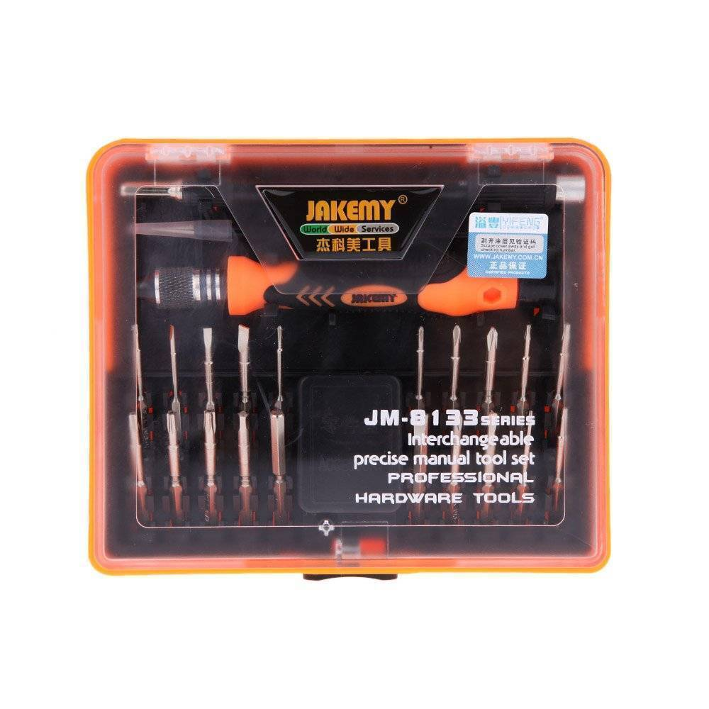 JAKEMY JM-8133 23 in 1 Screwdriver Ratchet Hand-tools Suite Furniture Computer Electrical maintenance Tools