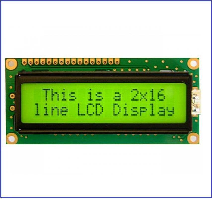 Green Color 1602 Character LCD Display 16x2 LCD Display