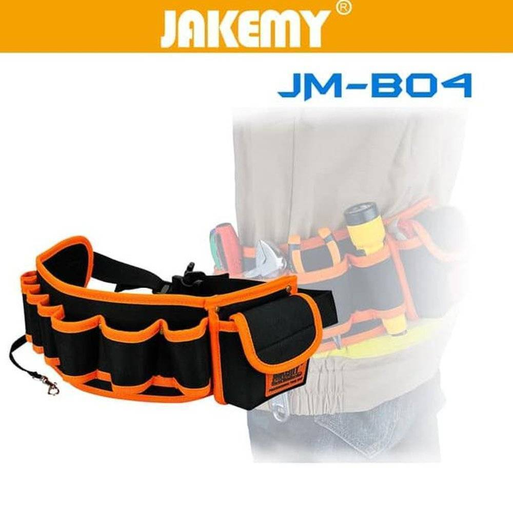 JAKEMY JM-B04 Multifunctional Waist Tool Bag Pockets Pouch Organizer for Carpenter Hammer Electrician Repair Tools