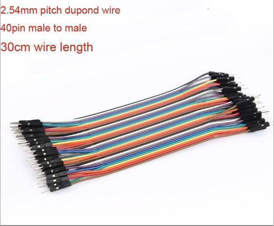 Pin To Pin Dupont 40 Pin 30cm Arduino Jumper Wire 12 Inch