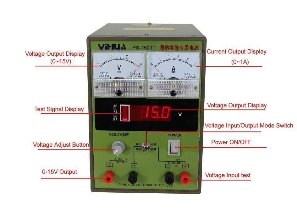 BEST-1501T 15V 1A Regulated dc power supply 220V voltage regulator adjustable power supply mobile phone repair testing equipment