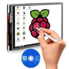 3.5 Inch 480x320 RGB TFT LCD Pixels Touch Screen with Touch Pen for Raspberry Pi