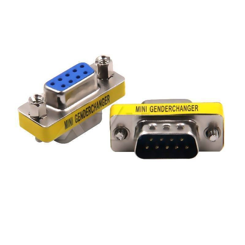 RS232 DB9 Male to Female MIni Gender Changer 9 Pin