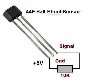 Hall Effect Sensor-44E In Pakistan