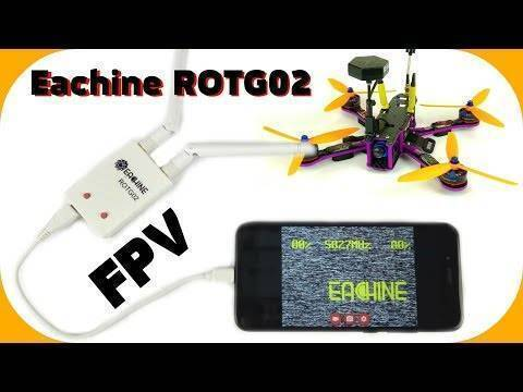 Eachine ROTG02 UVC OTG 5.8G 150CH Diversity Audio FPV Receiver for Android Tablet Smartphone