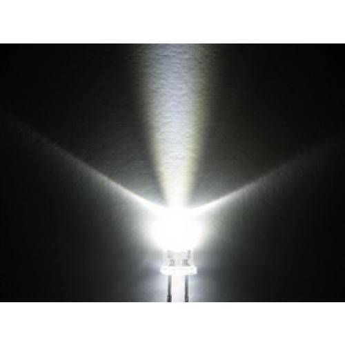 Led 3mm White Water Clear Ultra Bright