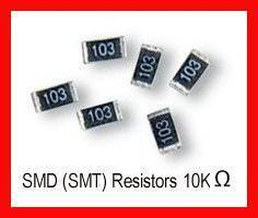 50pcs of 10K Ohm SMD Resistor 0.125W,1/8W, One eighth Watt 5% Resistor
