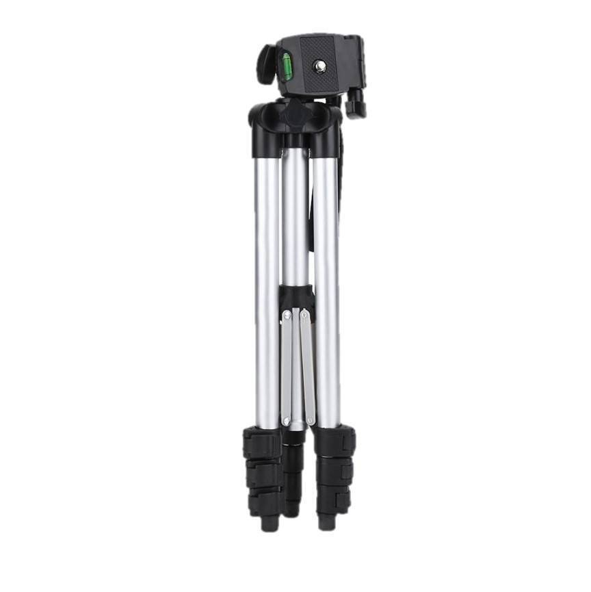 3110 Tripod Adjustable Portable Scalable Pan Head Tripod Mount Bracket Holder Fold able Tripod Stand for Camcorders DSLR Camera for Smart Phone