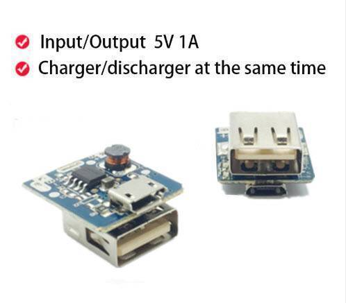 5V 1A Power Bank Charger Step Up Boost Charging Circuit Module Lithium Battery DIY Power Bank Module