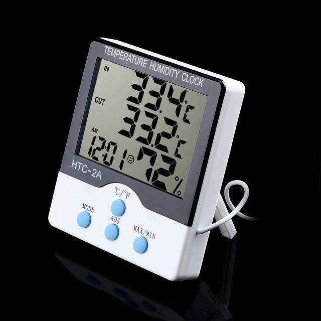 HTC-2A HTC2A Digital Clock Electronic Temperature Hydrometer Thermometer