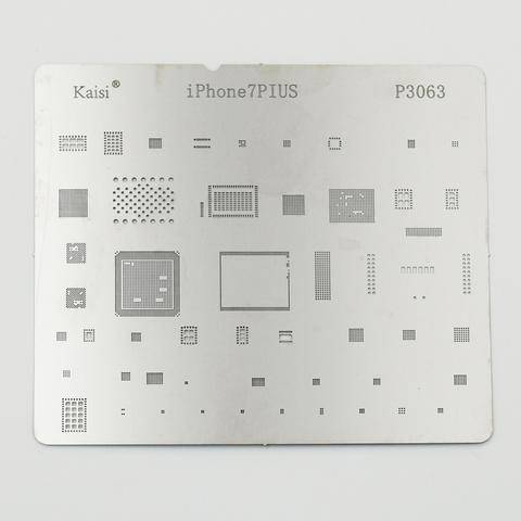 P3063 IC Chip BGA Reballing Stencil Kits Set Solder Template Multi-Function CPU Tin Steel Net For I Phone 7 Plus