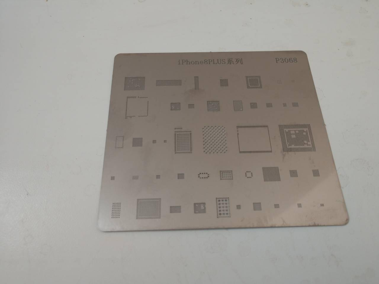 P3068 IC Chip BGA Reballing Stencil Kits Set Solder Template Multi-Function CPU Tin Steel Net For I Phone 8 Plus
