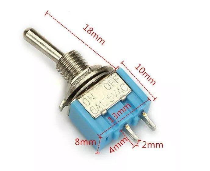 Toggle Switch SPDT ON OFF 2 Pin