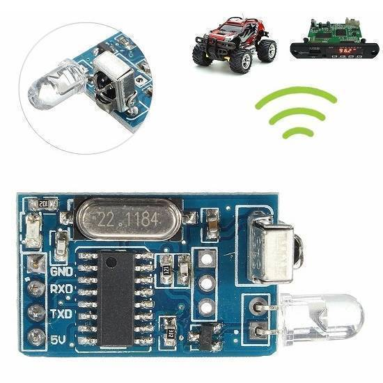 DIY 5V Wireless IR Infrared Remote Decoder Encoding Transmitter Receiver Module in Pakistan