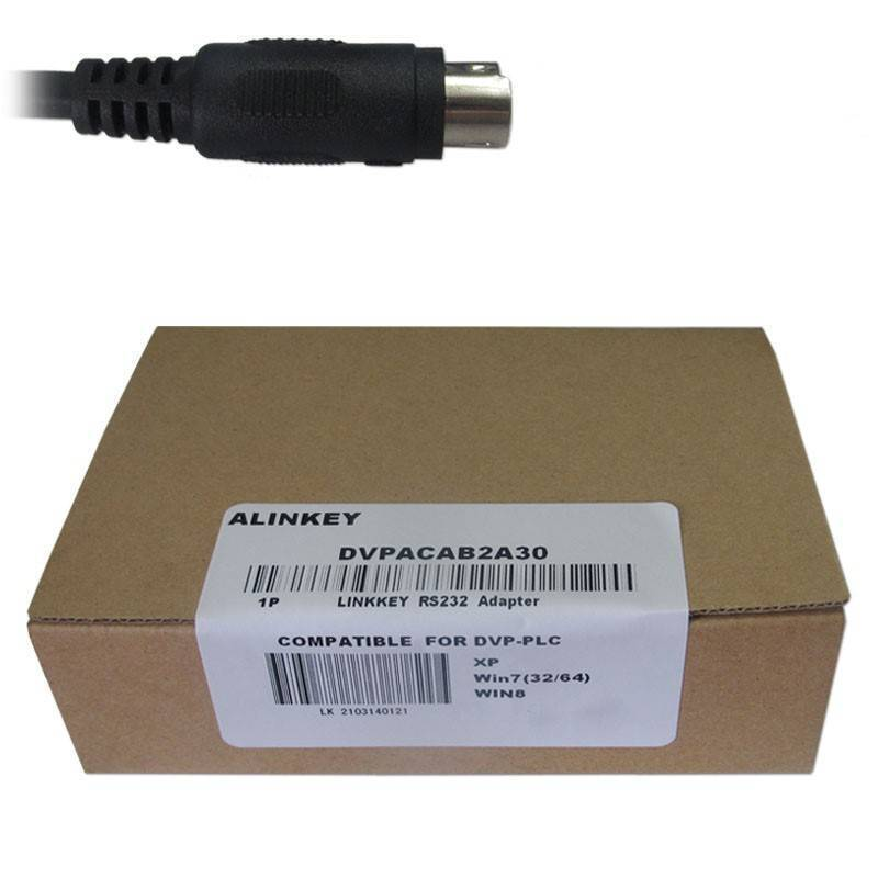 ALINKEY DVPACAB2A30 PLC Cable DVP Download Data Cable Din 8 Pin to DB9 Cable