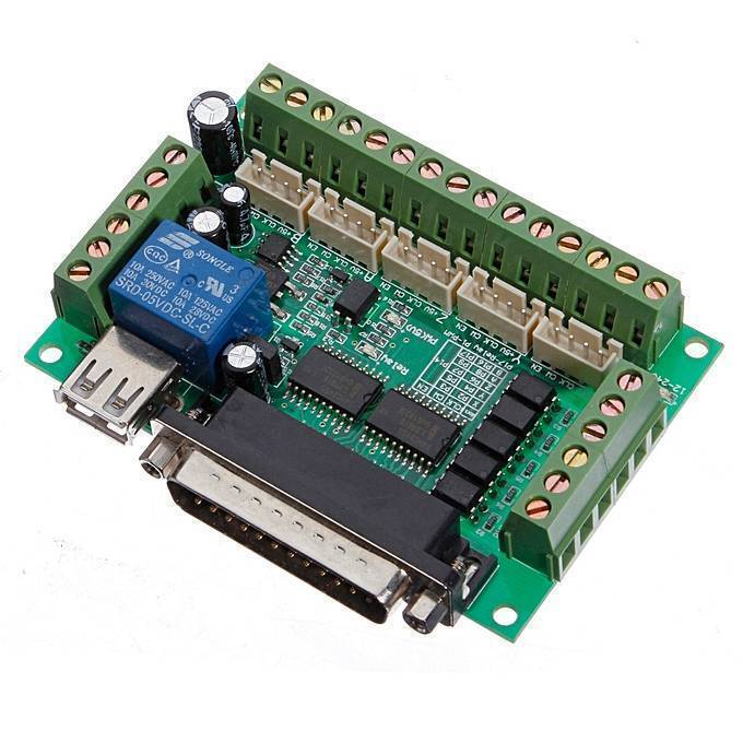 Mach3 Breakout Board 5 Axes CNC Breakout Board With Optical Coupler For MACH3 Stepper Motor Drive