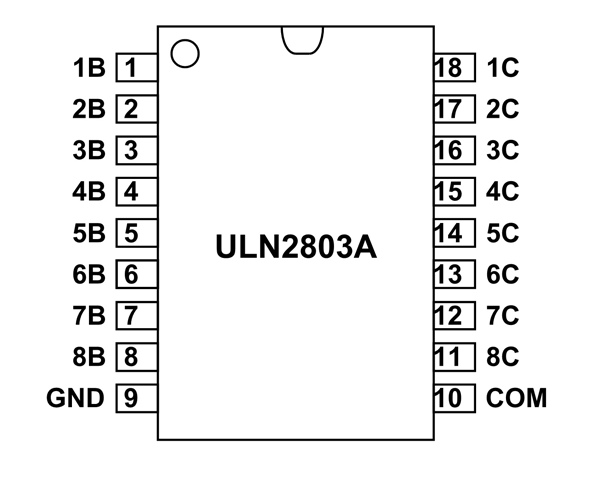 ULN2803A SMD Hi-Voltage Current Darlington Transistor Array