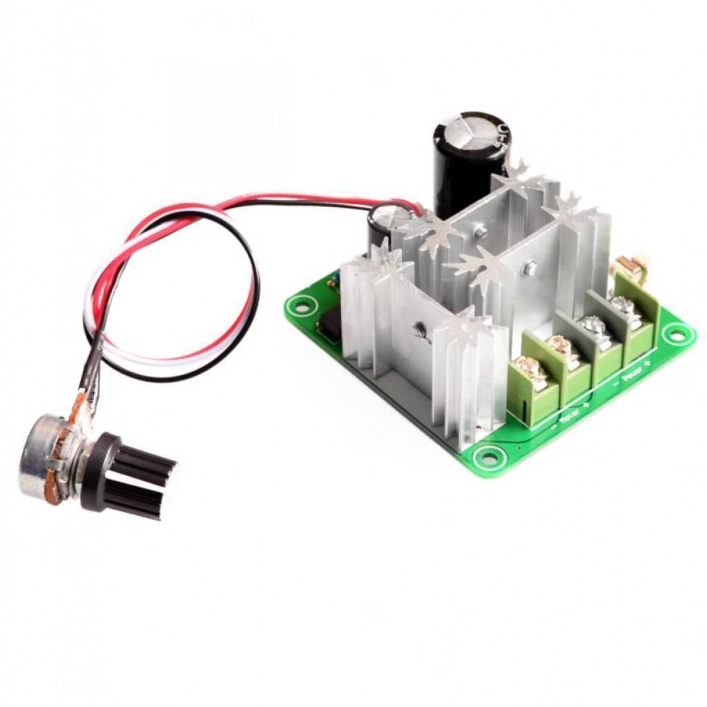 DC Motor Speed Controller DC 6V-90V 15A with Potentiometer
