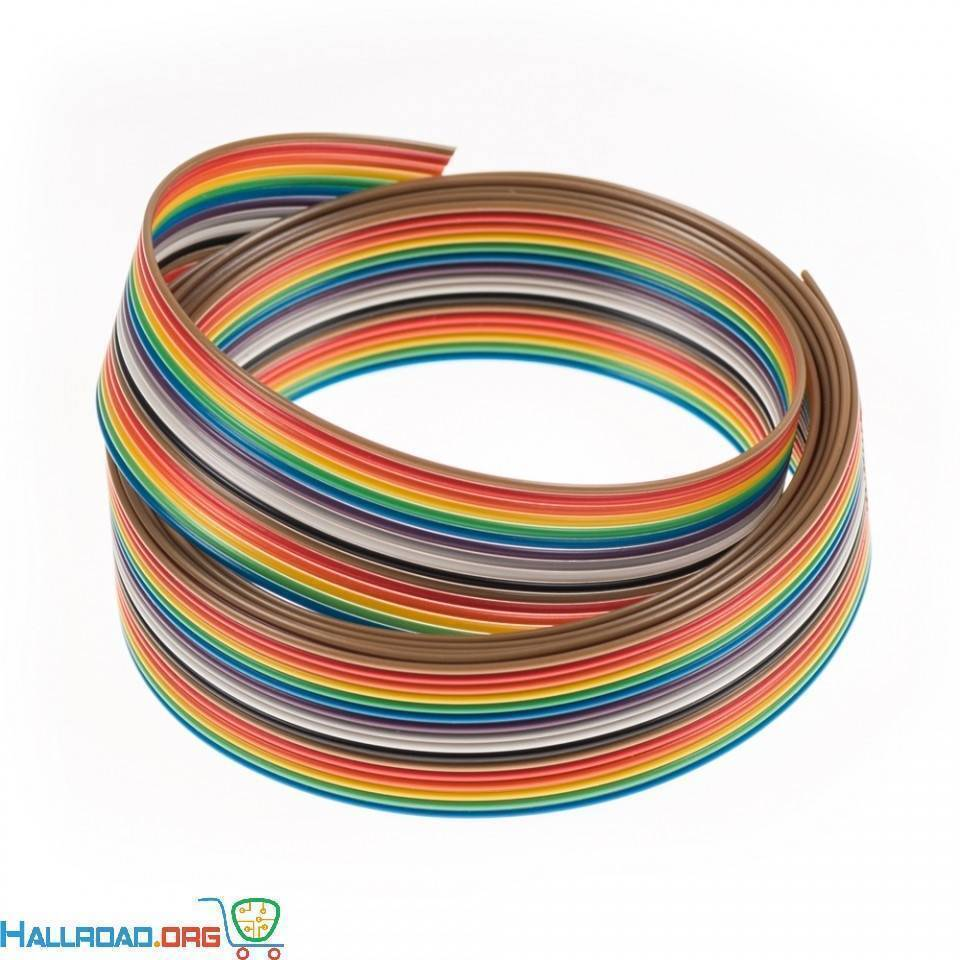1Feet 13 Wires Rainbow Color Flat Ribbon Cable