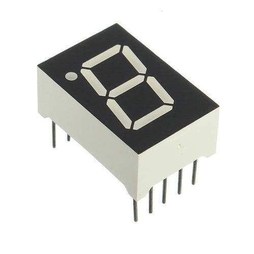 1 Digit 7 Segment 0.7 Inch LED Common Anode Display