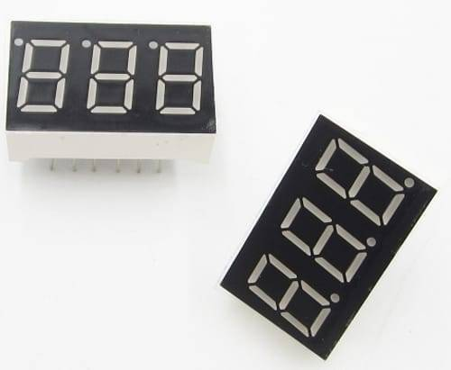 3 Digit Common Cathode 7 Segment LED Display