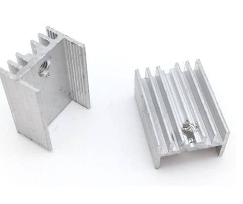 Silver Aluminium TO 220 Heat Sink