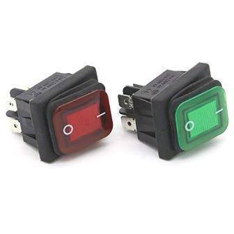 Waterproof Latching Rocker Toggle Switch AC250V 16A
