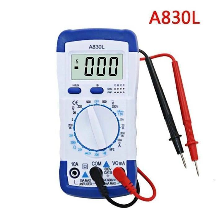 Digital LCD Multimeter A830L